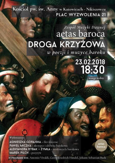 Droga Krzyżowa w poezji i muzyce baroku -plakat