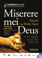 Miserere mei Deus – Muzyka na Wielki Piątek