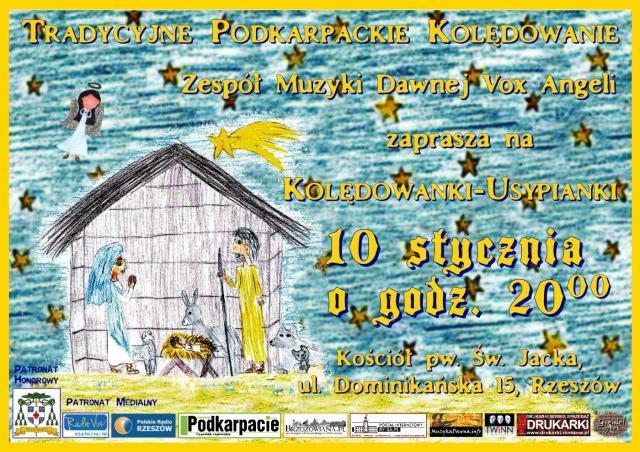 Tradycyjne Podkarpackie Kolędowanie 2016 - plakat