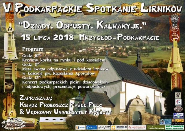 V Podkarpackie Spotkanie Lirników w Dolinie Sanu - Wakacyjne Kręcenie Korbą w Mrzygłodzie