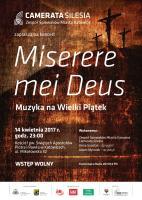 Miserere mei Deus – Muzyka na Wielki Piątek - plakat