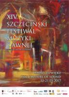 XIV Szczeciński Festiwal Muzyki Dawnej Plakat