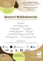 PLakat Koncert Wykładowców Letnich Kursów Metodycznych Muzyki Dawnej