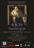 PLakat Bach transkrypcje