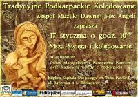 Tradycyjne Podkarpackie Kolędowanie w Szpitalum Miejskim w Rzeszowie - plakat